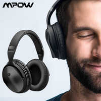 Mpow H5 2nd 2Gen casque sans fil Bluetooth ANC casque antibruit actif avec sac de transport pour tablette TV Smartphone