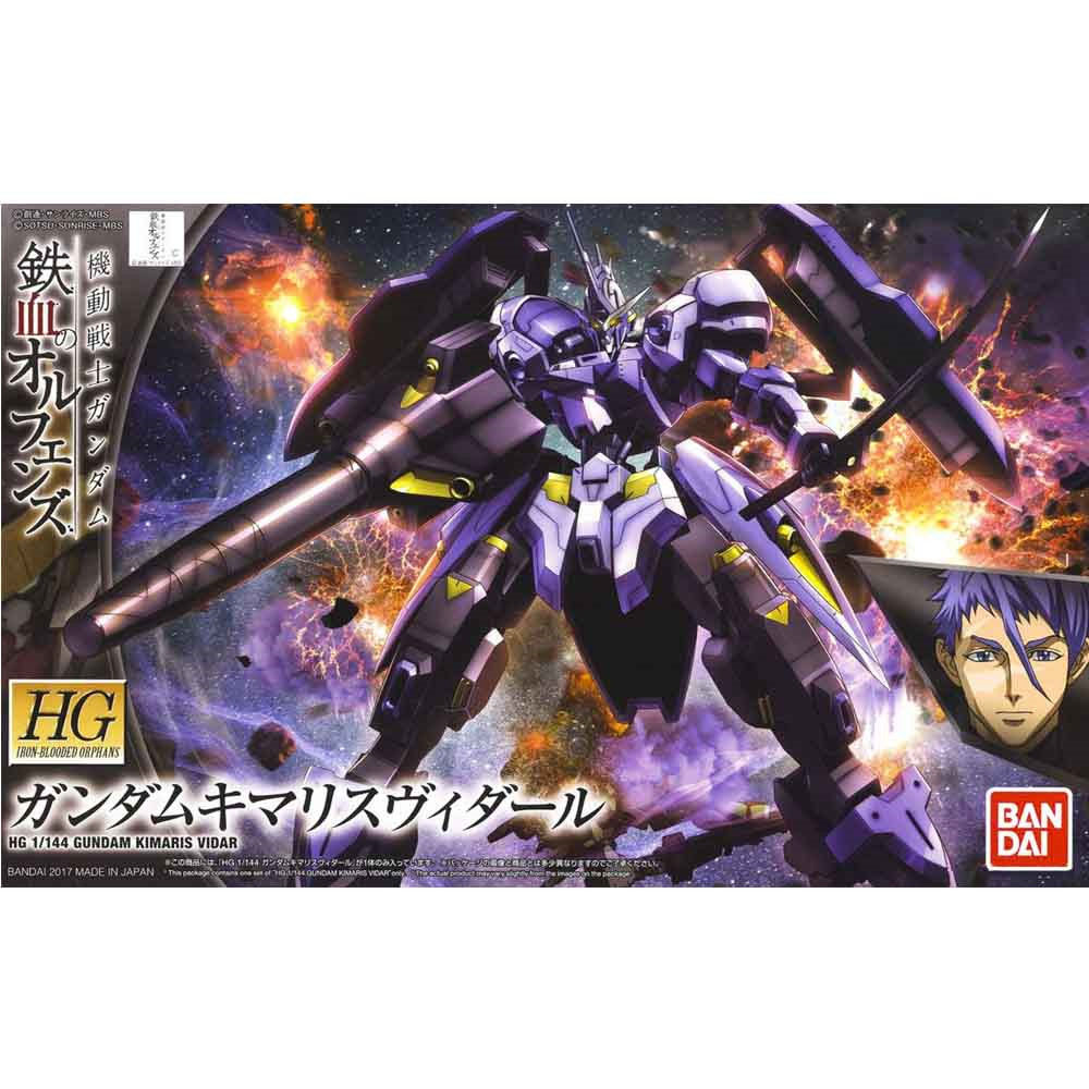 1pcs bandai HG Iron-Blooded Orphans 035 1/144 Gundam Kimaris Vidar kids toy assembled Robot action figure gunpla gift juguetes new arrive 1 pc japanese black metal alloy heavy blade sword accessorie for 1 144 hg rg mg unicorn gundam action figure toy