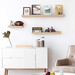 Image 4 - Bamboo Wall Shelf Floating Ledge Storage Wall Shelves Rack Wall Art for Home Decor