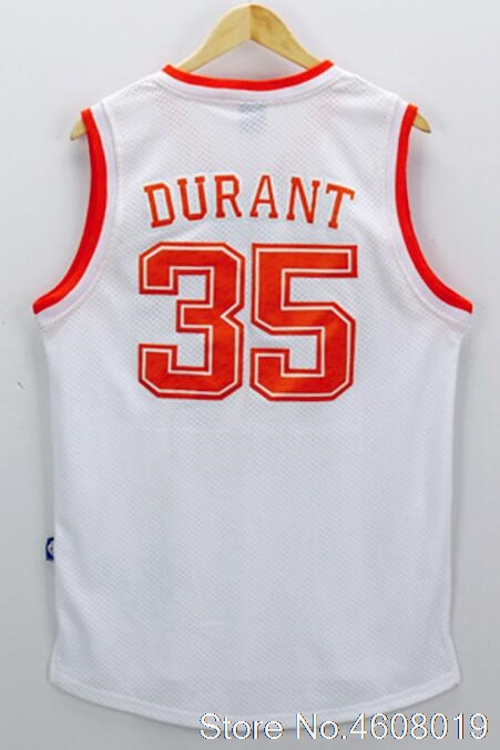 fb7743a05a49 Free Shipping 35 Kevin Durant JERSEYS Men Texas Longhorns College  BASKETBALL JERSEYS Durant Sports Uniform Orange White-in Basketball Jerseys  from Sports ...