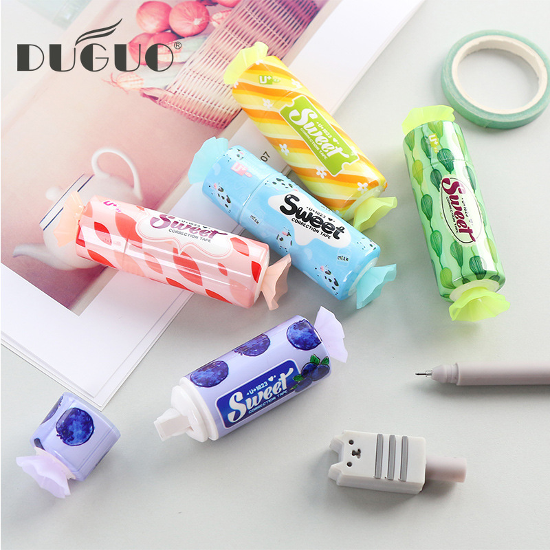 DUGUO Cute Stationery Candy Styling Correction Tape 3m Korean Stationery Student Altered With Kawaii School Supplies
