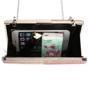 Image 3 - Женская вечерняя сумка клатч, розовый клатч и сумочка в стиле пэчворк, кожаная женская сумка, свадебная сумка ZD1178