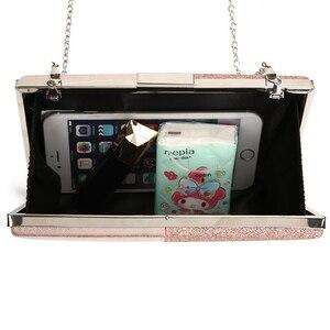 Image 3 - Pochette en cuir Design pour femmes, pochette de soirée, pochette et sac à main rose, sac en Patchwork, sac pour fêtes de mariage, ZD1178