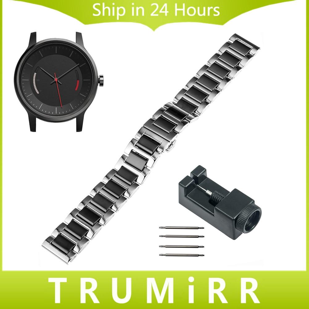 20mm Ceramic & Stainless Steel Strap for Garmin Vivomove Samrt Watch Band Butterfly Buckle Bracelet + New Link Remover + Pins купить garmin etrex 20 б у