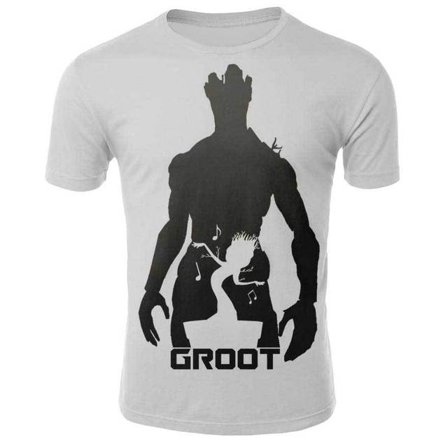 Marvel Movie T-shirt Cute Style O-neck High Quality Short Sleeves T-shirt Galaxy Groot Streetwear Fashion Plus size S-4xl