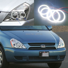 Para Kia Sedona 2006-2014 Excelente Ultrabright iluminación smd led Angel Eyes Anillo de Halo angel eyes kit