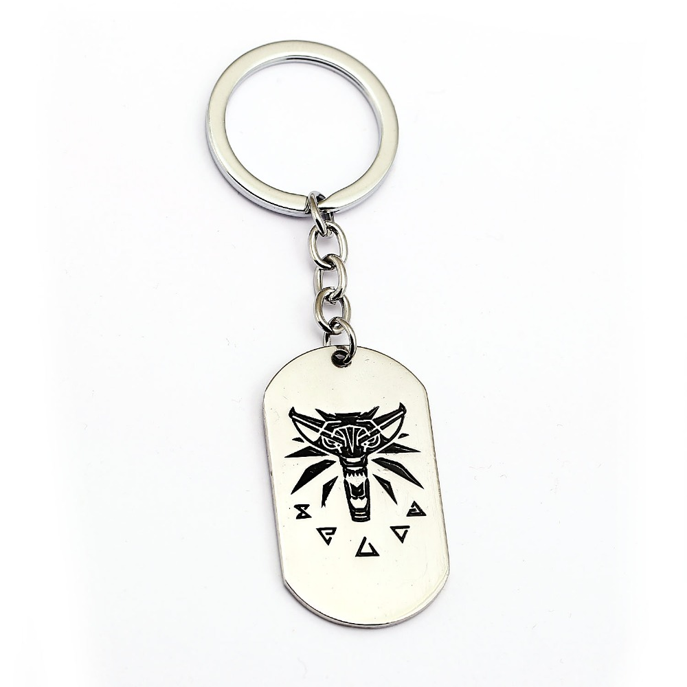 Game The Witcher 3 Keychain Wild Hunt Key Ring Holder Silver Men Car Women Bag Key Chain Pendant Chaveiro Fashion Jewelry