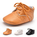 100% Brand New 2 Colors Baby Girls Boy PU Leather Crib Shoes Kids Soft Sole Loafers Toddler Shoes