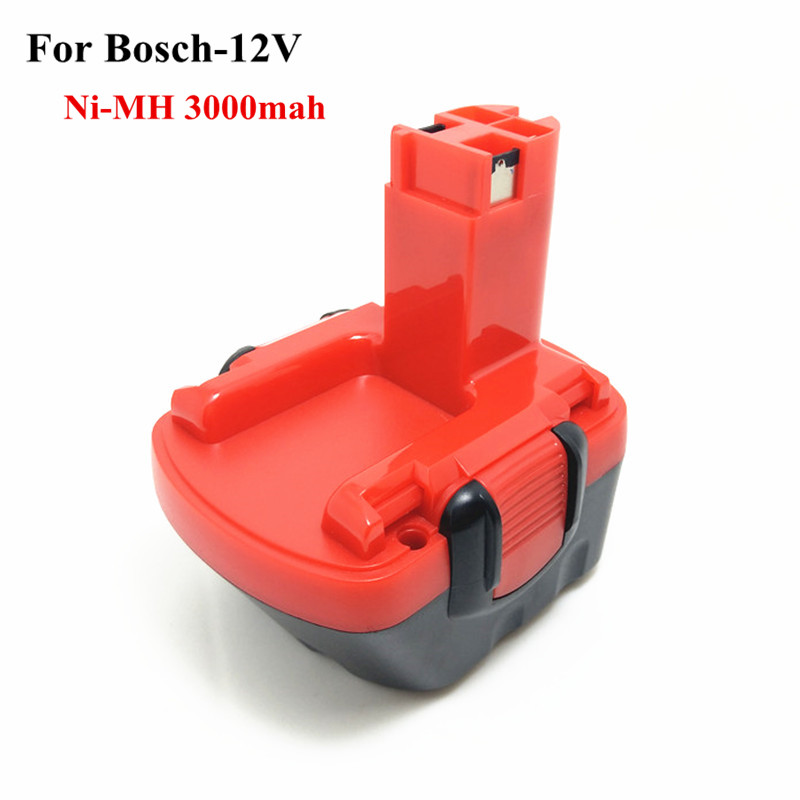 Ni-MH 12v 3.0Ah Replacement For Bosch tool battery 2607335709 2607335249 2607335261 2607335262 2607335273 GSR12-1GSB12VE-2 replacement battery and charger for bosch al1130v bc430 10 8v 12v 1 5ah bat411 gsb 10 8 gsr 10 8 v li battery
