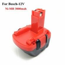 Ni-MH 12 v 3.0Ah batería de la herramienta De Repuesto Para Bosch 2607335709 2607335249 2607335261 2607335262 2607335273 GSR12-1GSB12VE-2