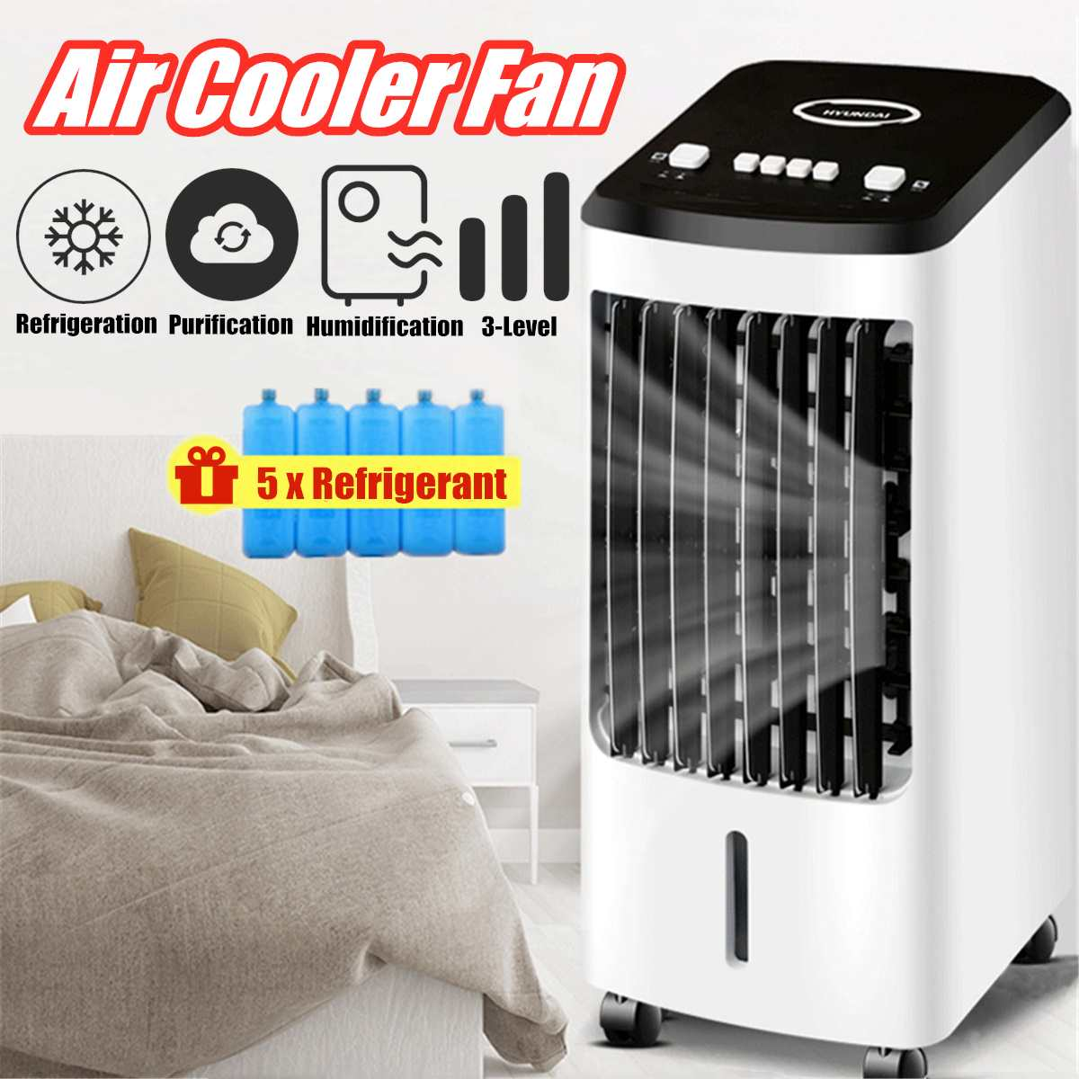 Portable Air Conditioner Conditioning Fan Humidifier Cooler Cooling 70W 220V Air Conditioner Timed Cooling Fan Humidifier+Gift