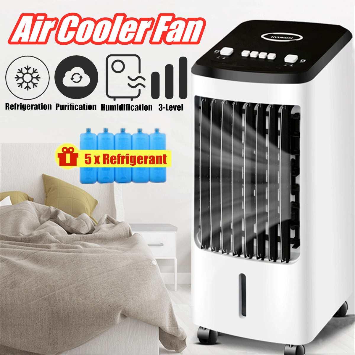 Portable Air Conditioner Conditioning Fan Humidifier Cooler Cooling 70W 220V Air Conditioner Timed Cooling Fan Humidifier+Gift