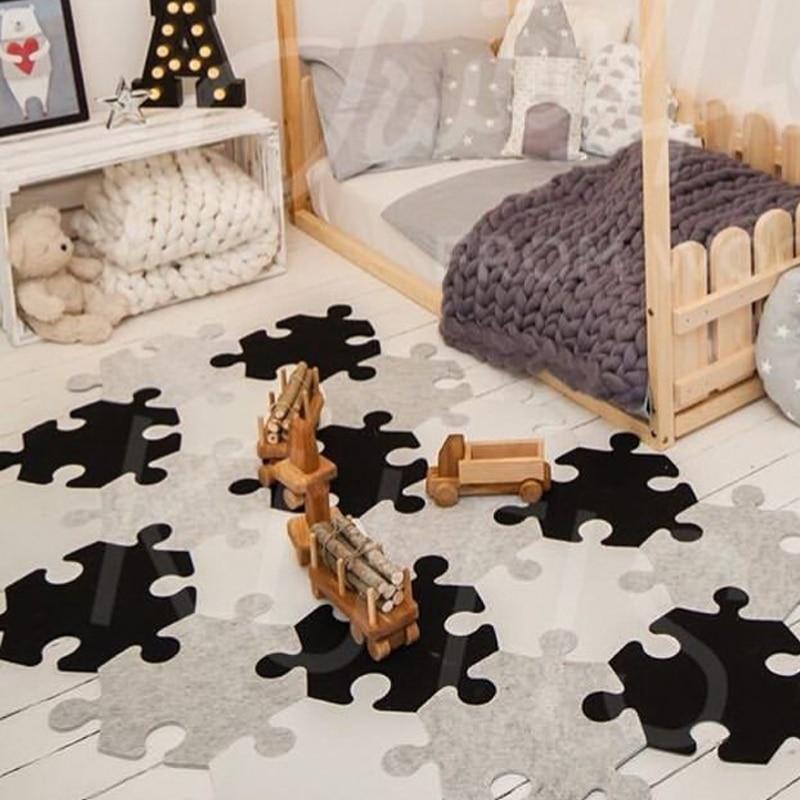Baby EVA Foam Puzzle Play Floor Mat/Polygon  Interlocking Exercise Carpet Tiles,Rug For Kids,Each32x32cm