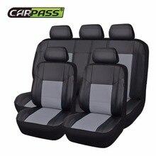 Carpass, чехол на сиденье автомобиля, полное сиденье, черный, серый, 6 цветов, искусственная кожа, авто, универсальный автомобиль, хорошо подходит для Mazda, Lada, Nissan, hyundai