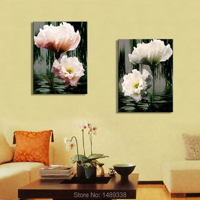 Framed art Home wall 2 Panel Modern Painting Decorative Living Room ...