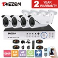 Tmezon 4ch ahd 1080 p dvr 4 pcs câmera 2.0mp 1080 p 2.8-12mm Lente Zoom CCTV Home Security Sistema de Vigilância Visão Nocturna do IR Kit