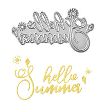 Naifumodo Hello Sunshine Word Dies Metal Cutting New for Card Making Scrapbooking Album Embossing Stencil Craft Letter