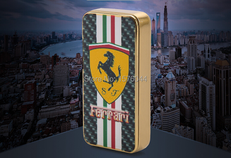 1PC Windproof lighter ultrathin USB charging high end fashion color printing electronic cigarette E4078