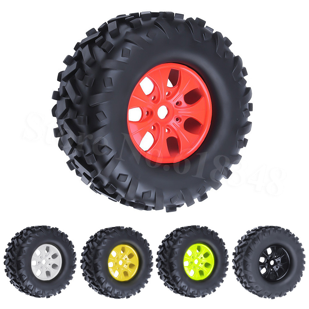 4pcs RC 17mm Hex Tires Wheel Rims 170x85mm Foam Inserts for 1 8 Monster Truck Bigfoot