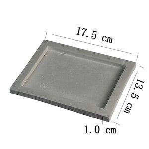 Image 2 - シリコーントレイ型手作り正方形セメント板の金型