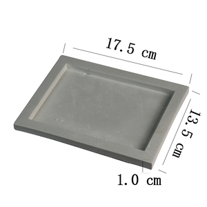 Image 2 - Silicone Tray Mold Handmade Square Cement Plate Mould
