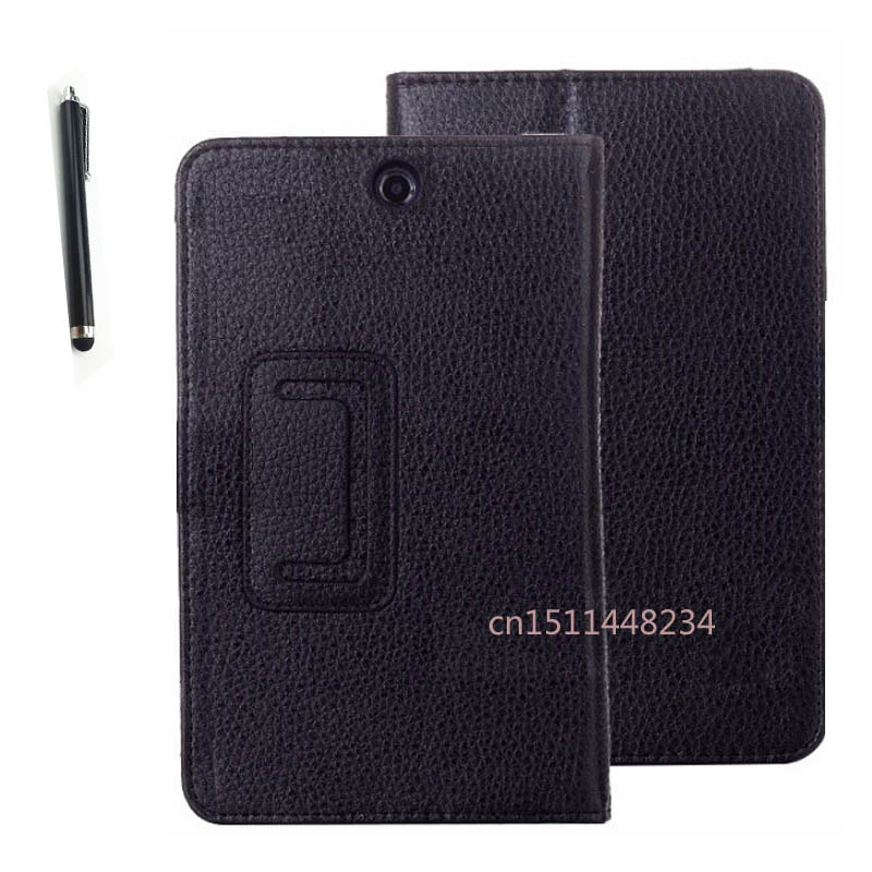 High quality Lenovo A3500 case Lichee leather case for lenovo 3500 A7-50 tablet PC flip Magnet stand cover cases + Stylus