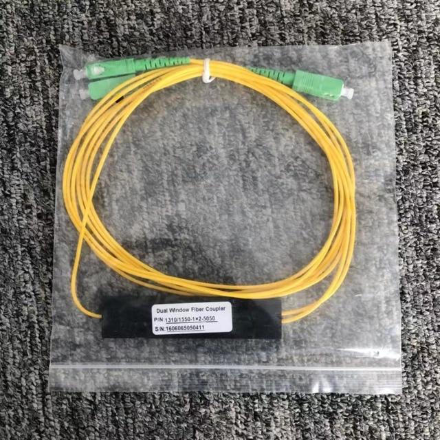SC/APC 1X2 חד PLC סיבים אופטי ספליטר FTTH PLC SCAPC 1x2 PLC סיב האופטי ספליטר FBT אופטי מצמד משלוח חינם