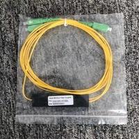 SC/APC 1X2 PLC Singlemode Fiber Optische splitter FTTH PLC SCAPC 1x2 PLC optische fiber splitter FBT Optische Koppeling Gratis verzending
