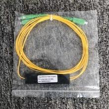 Sc/Apc 1X2 Plc Singlemode Fiber Optische Splitter Ftth Plc Scapc 1X2 Plc Glasvezel Splitter Fbt optische Koppeling Gratis Verzending