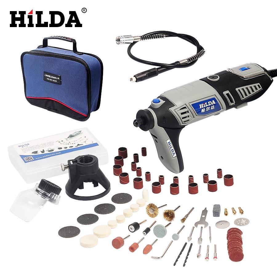 HILDA 180W EU Plug Electric drill Dremel style Electric Rotary Power Tool with Flexible Shaft 133pcs