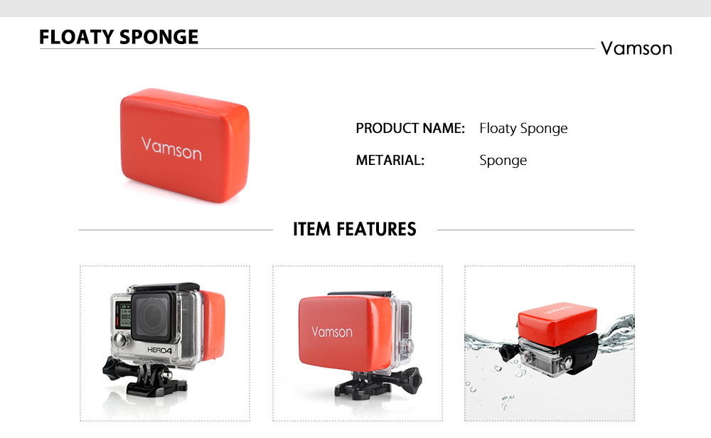 action camera Vamson Gopro Camera Accessories HTB1UbPgok9WBuNjSspeq6yz5VXa8