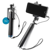 Luxury Extendable Folding Wired Selfi Self Selfie Stick Monopod For Samsung for iphone Huawei Perche Selfies Selfiepod