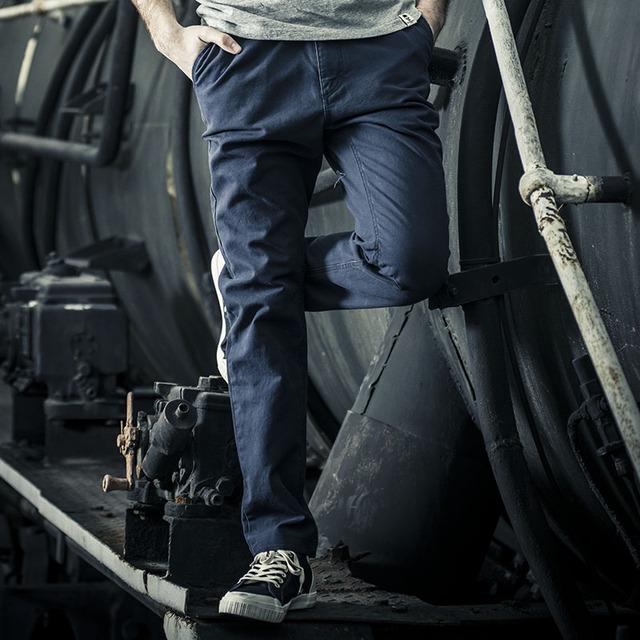 AK Marca DEL CLUB Pantalones Vintage Clásico de Cinco Bolsillos Pantalones Rectos Regular Fit Pantalones Casuales de Algodón Para Hombres Pantalones Largos 1512016