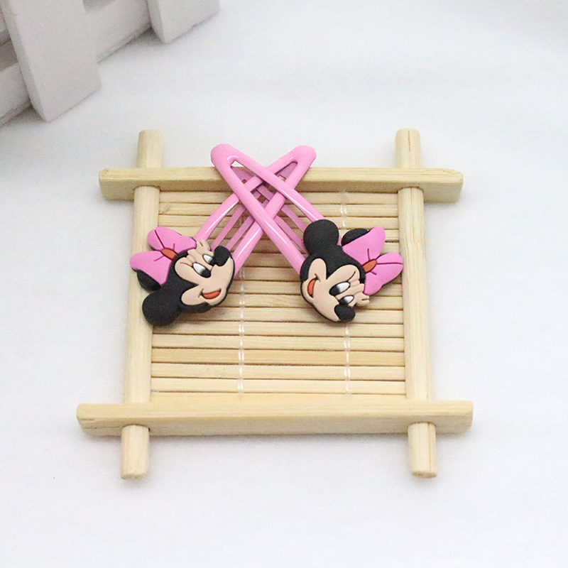 2pcs 26Styles Mickey Minne font b Baby b font Clip Hairpins Girls Barrettes Kids Headwear Multicolor