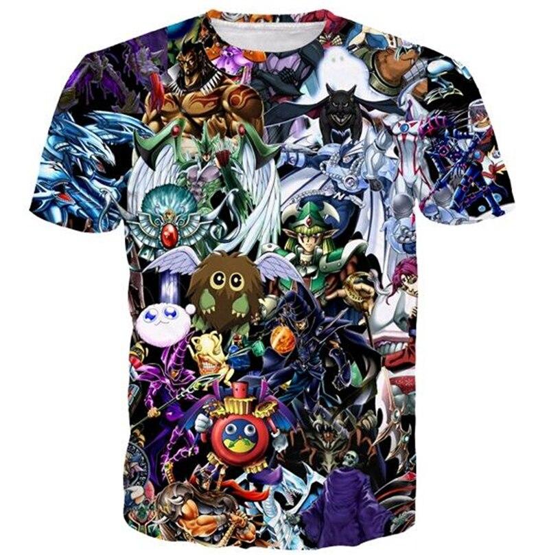 Cute t shirt YuGiOh Monster Tee Shirt Men Women 3D print