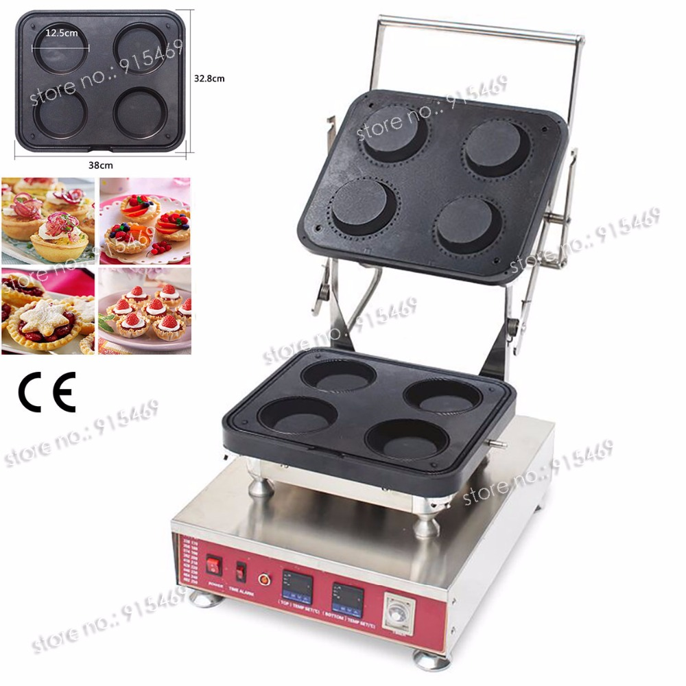 Free Shipping 304 Stainless Steel Professional Electric Ice Cream Corn Tart Waffle Bowl Maker Machine With Removable Plate