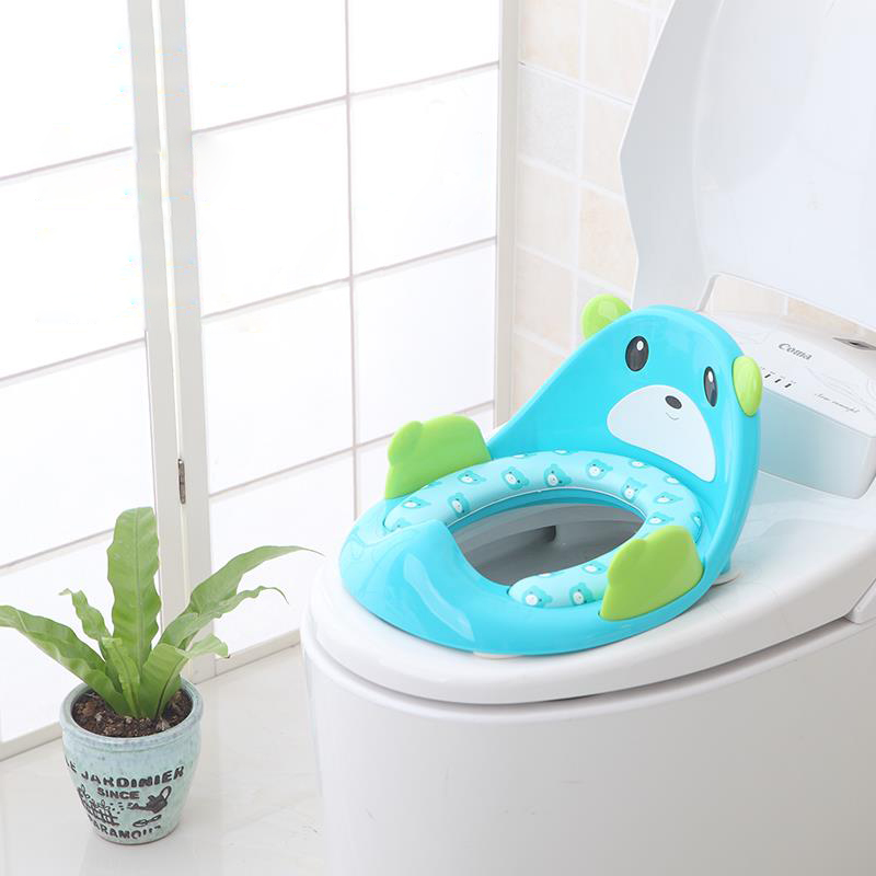 2dcd9901e6df US $8.0 |Potty Training Seat for Kids Boys Girls Toddlers Toilet Seat for  Baby with Cushion Handle and Backrest Toilet Trainer-in Potties from Mother  ...