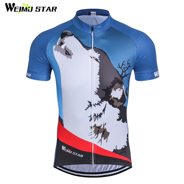 26db0dba3 Weimostar Cycling Jersey Men Short Sleeve 2017 Wolf Bicycle Cycling  Clothing Summer 100% Polyester MTB Bike Jersey Cycling Wear