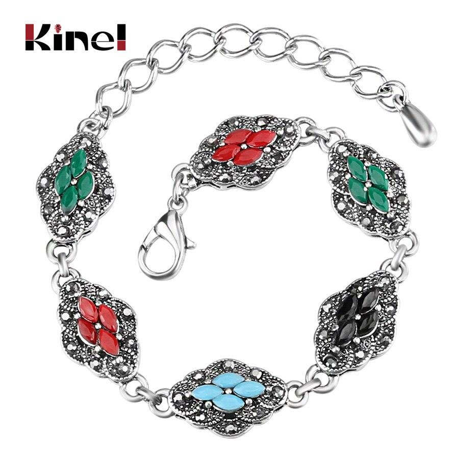 Kinel vintage bohemio pulseras brazalete para las mujeres Antique ...