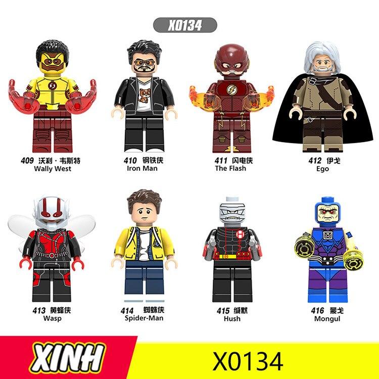 Dc Superhero Wally West/Ego/Wasp/Hush/Mongul DIY Toys Minifigured Building Blocks Figure Bricks Compatible With Bela