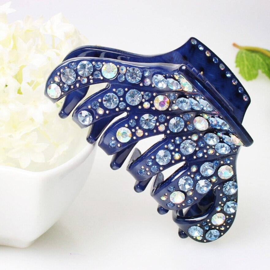Top quality shining rhinestone hair clip comb bonzer the big hair pins fashion jewelry wedding accessories wholesale AA52