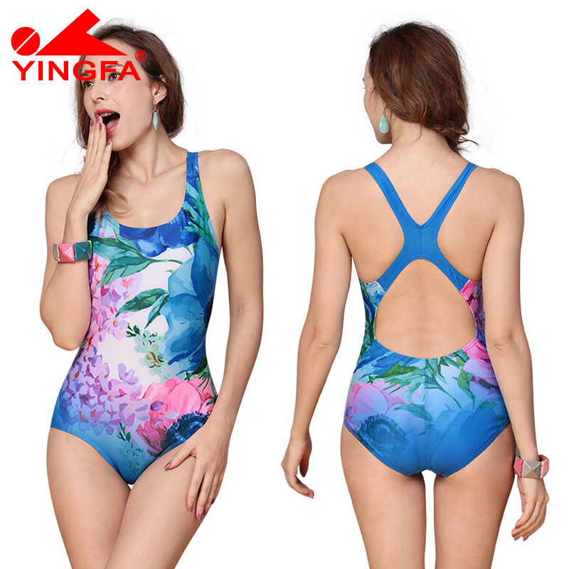 Yingfa 2017 New Sexy Sport Suits One Piece Swimsuits Swimwear Women Summer Padded Swimsuit Training swimwear Bathing suit 2017 new sexy one piece swimsuit strappy biquini high waist one piece swimwear women bodysuit plus size bathing suits monokinis