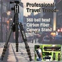 Z699C штатив углеродного волокна Professional камера стенд портативный путешествия Tripode моноподы с несколькими шаровой головкой для Canon sony Nikon