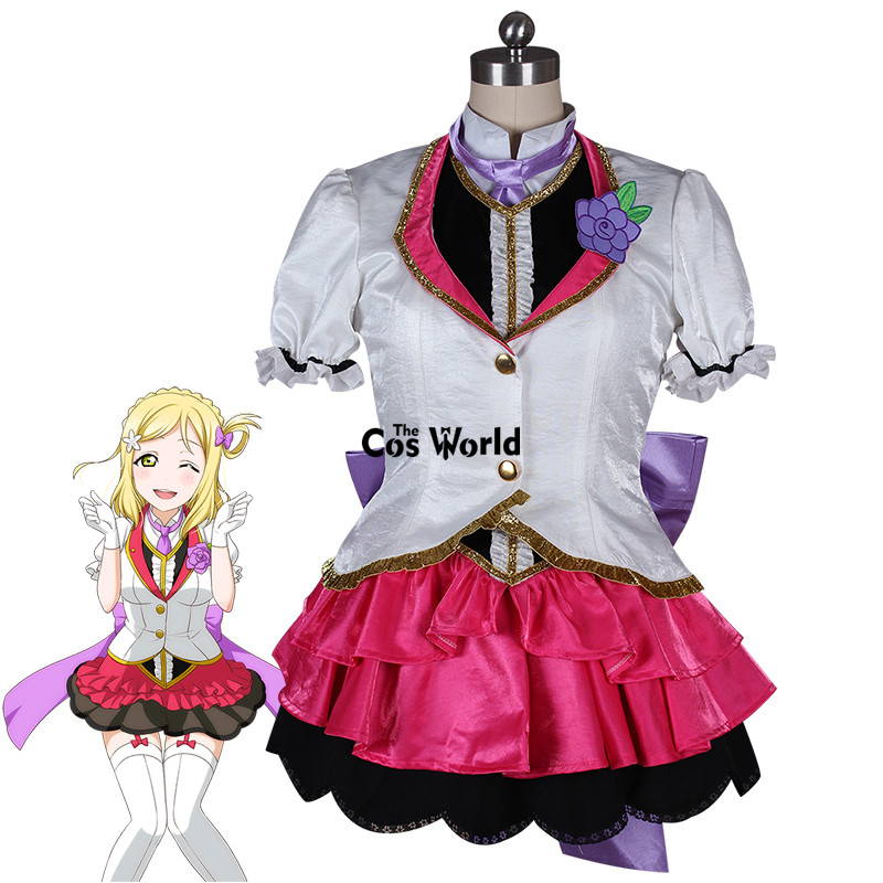 Love Live Soleil Aqours Mari Ohara Mirai Billet Manteau Chemise Gilet Robe Uniforme Outfit Anime Cosplay Costumes