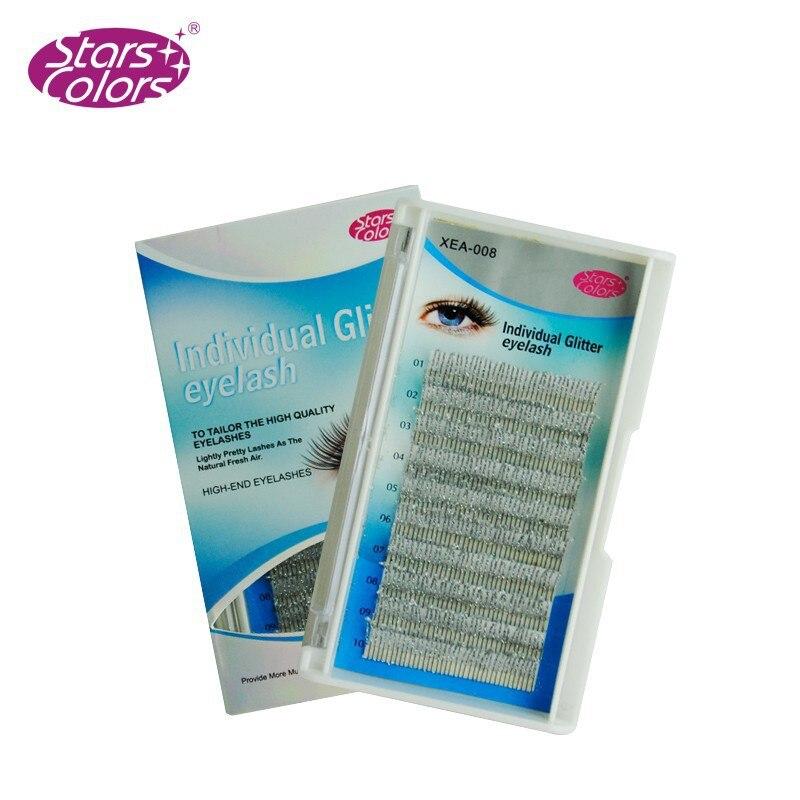 C Curl 0.15mm Fashion Glitter Øjenvipper forlængelser 12 strimler - Makeup - Foto 3