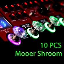 Mooer SHROOMS 10 piezas Footswitch Topper caramelo parachoques de plástico guitarra Pedal Protector