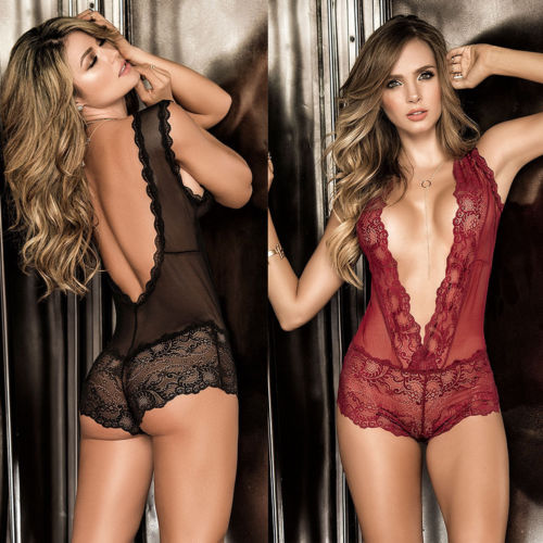 ef9d482b096 AVASIII Sexy Lingerie Lace Dress G-string Underwear Babydoll Sleepwear Sets