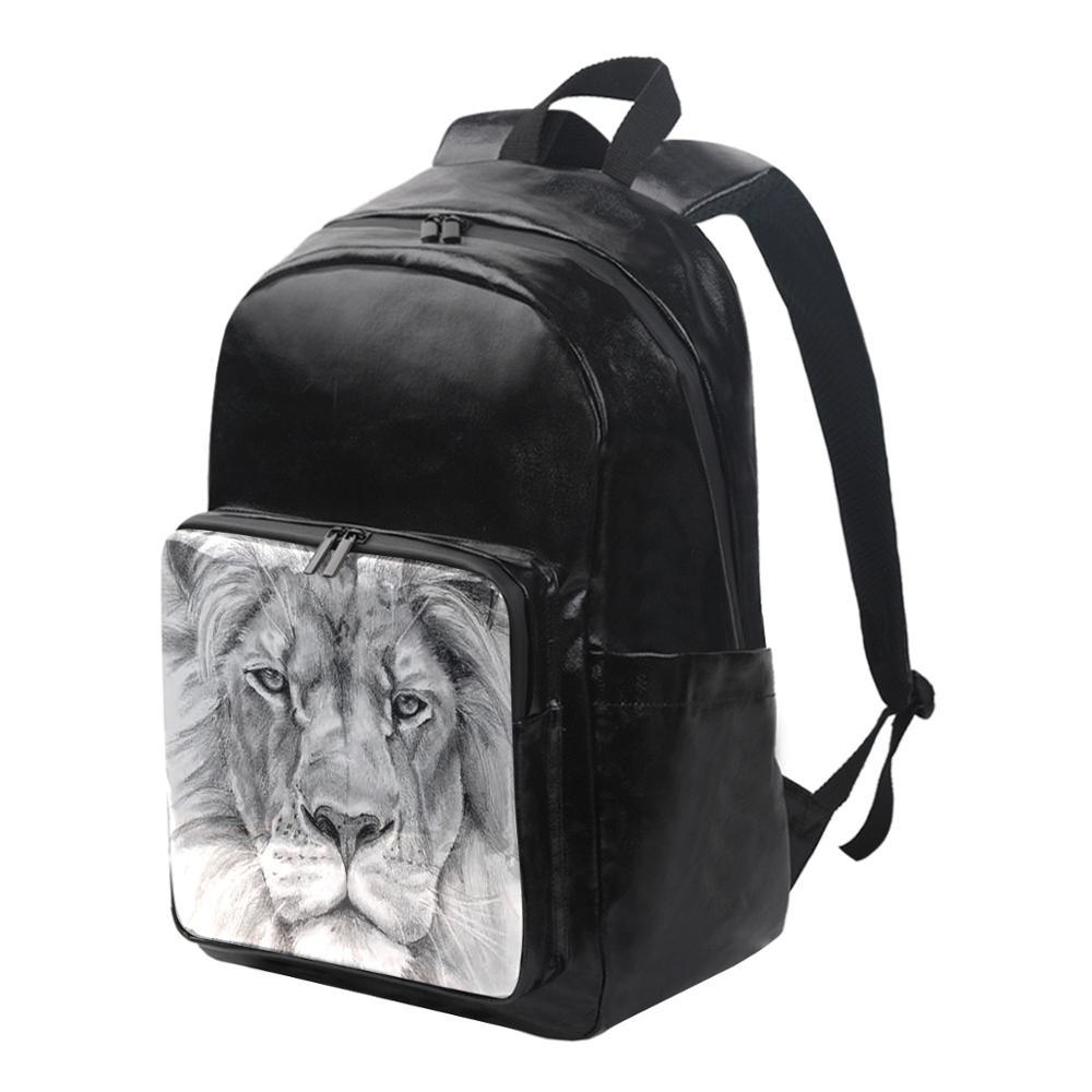 Femmes imperméable toile sacs à Dos mode Lion motif pochette d'ordinateur Sac a Dos voyage dames Sac à Dos Mochilas sacs d'école pour les filles