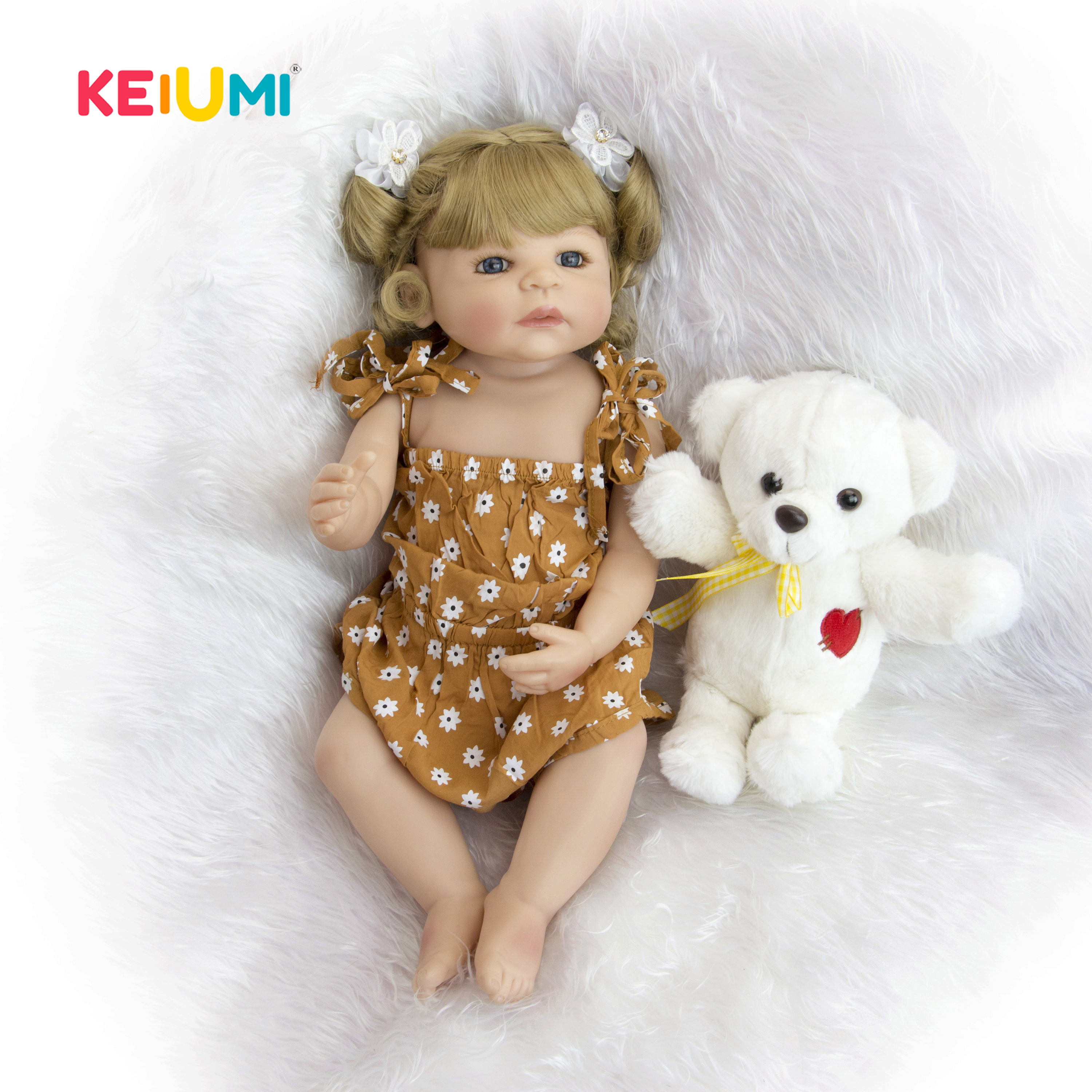 New Style Silicone Full Body Reborn Dolls 22 55 cm Realistic Newborn Girl Babies Doll With