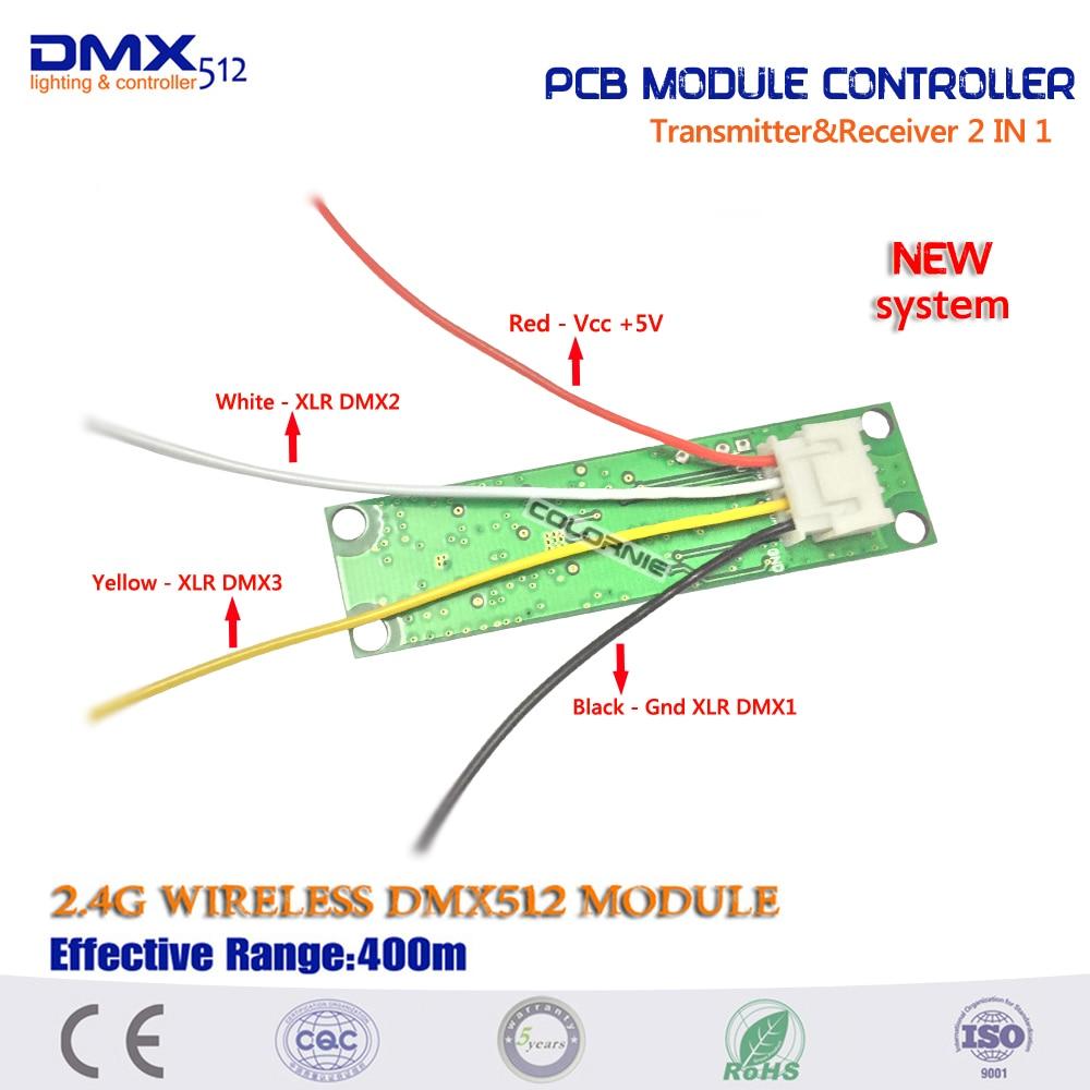 2 em 1 DMX 512 Controlador Transmissor
